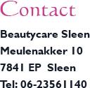 contact beautycare sleen